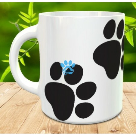 Mug with dog paws